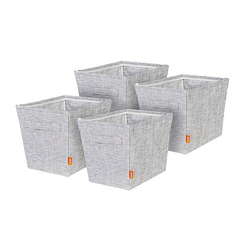 Set of 4 Small Woven Storage Bins
