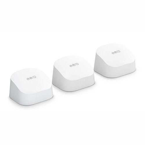 eero 6 dual-band mesh Wi-Fi 6 system (1 eero router + 2 eero extenders)