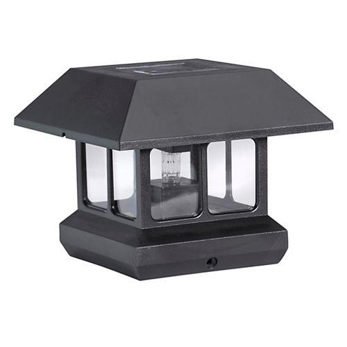 Outdoor Black Solar 3 lumen LED Plastic 2-in-1 Post Light