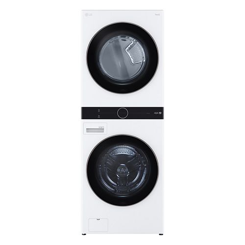 Front Load WashTower Laundry Centre with 5.2 cu. ft. Washer and 7.4 cu. ft. Electric Dryer in White - ENERGY STAR®