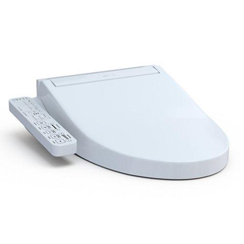Washlet C2 Electric Elongated Bidet Toilet Seat, Cotton White