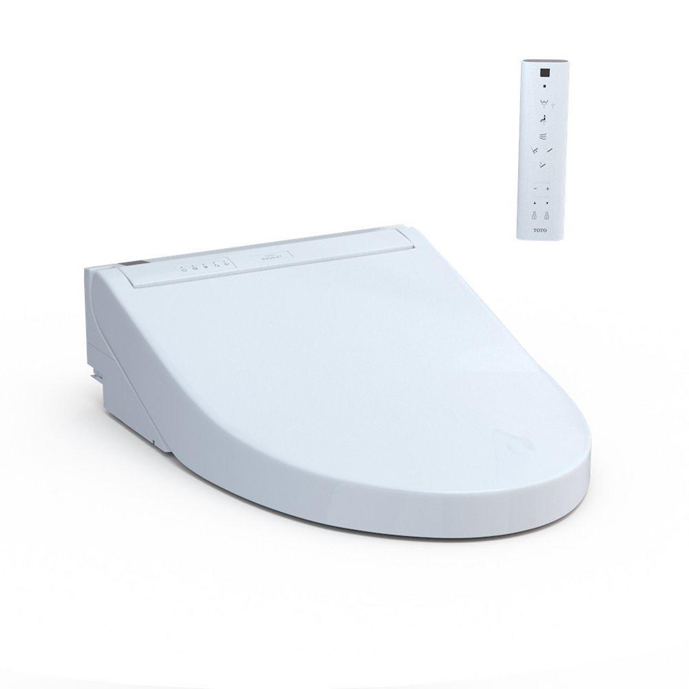 TOTO Washlet C5 Electric Elongated Bidet Toilet Seat, Cotton White