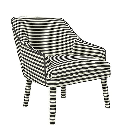 Effie Upholstered Accent Chair in Black Linen