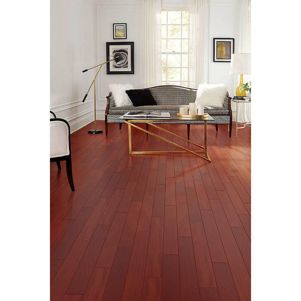 Amaz Brazilian Oak Burgundy 3/4-inch T x 5-inch W x 1-6-Feet Solid Hardwood Flooring (22.60 sq.ft./case)