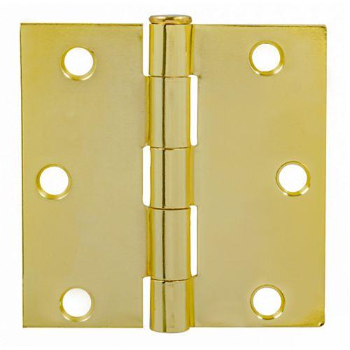 Charnières de porte dorée de Everbilt. 3po Paquet de 2
