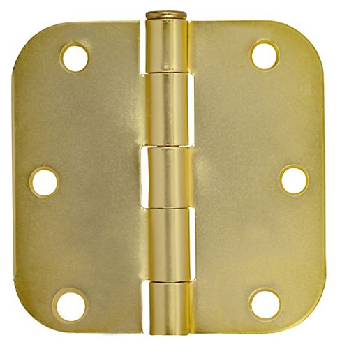 """Charnières de porte dorée de Everbilt. Rayon de 5/8"""" -3po Paquet de 2"""