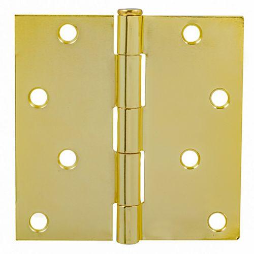 Charnières de porte dorée de Everbilt. 4po Paquet de 2