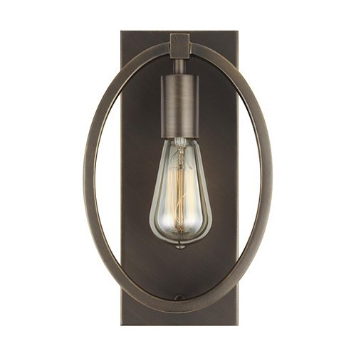 Feiss Collection for Generation Lighting Marlena 60w. 1-Light Antique Bronze MediumSconce