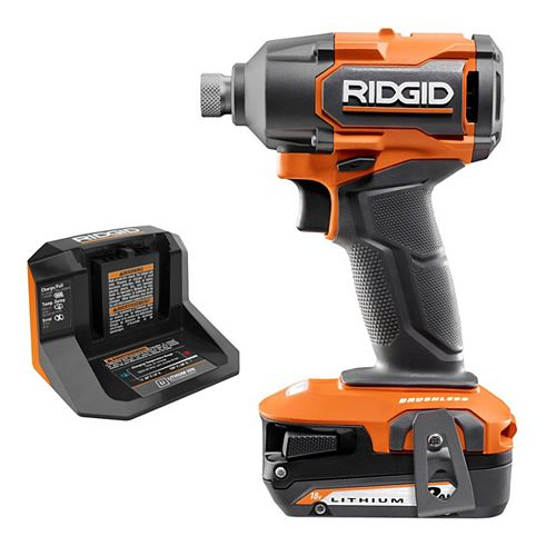 18V Brushless Cordless 1/4-inch Impact Driver Kit with 2.0 Ah Battery and Charger