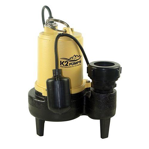 1/2 HP CI Sewage w/Quick Connect