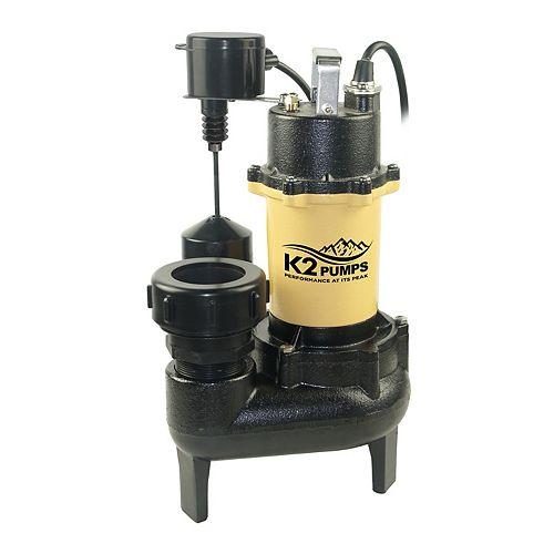 1/2 HP CI Sewage Pump, Quick Connect