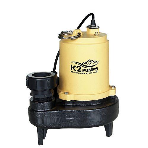 3/4 HP CI Sewage w/Quick Connect