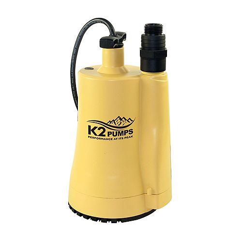 Pompe utilitaire thermoplastique 1/6 HP