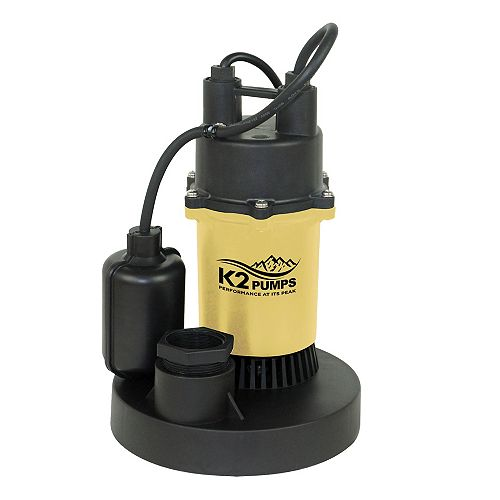 1/4 HP Direct Tethered Top Suction Sump Pump