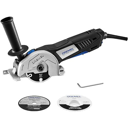 Dremel 120V Ultra-Saw Corded 4-inch Circular Saw/Grinder Tool Kit with Side Handle and Cutting Wheels (3)