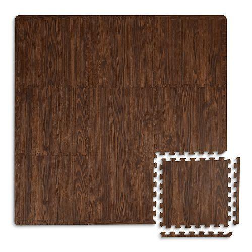 Carreaux de sol emboîtables Artisan brun de 12 po x 12 po