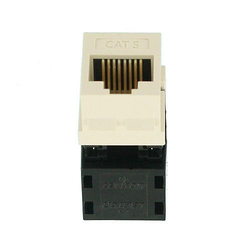 Category 5 QuickPort Connector, CAT 5, Light Almond