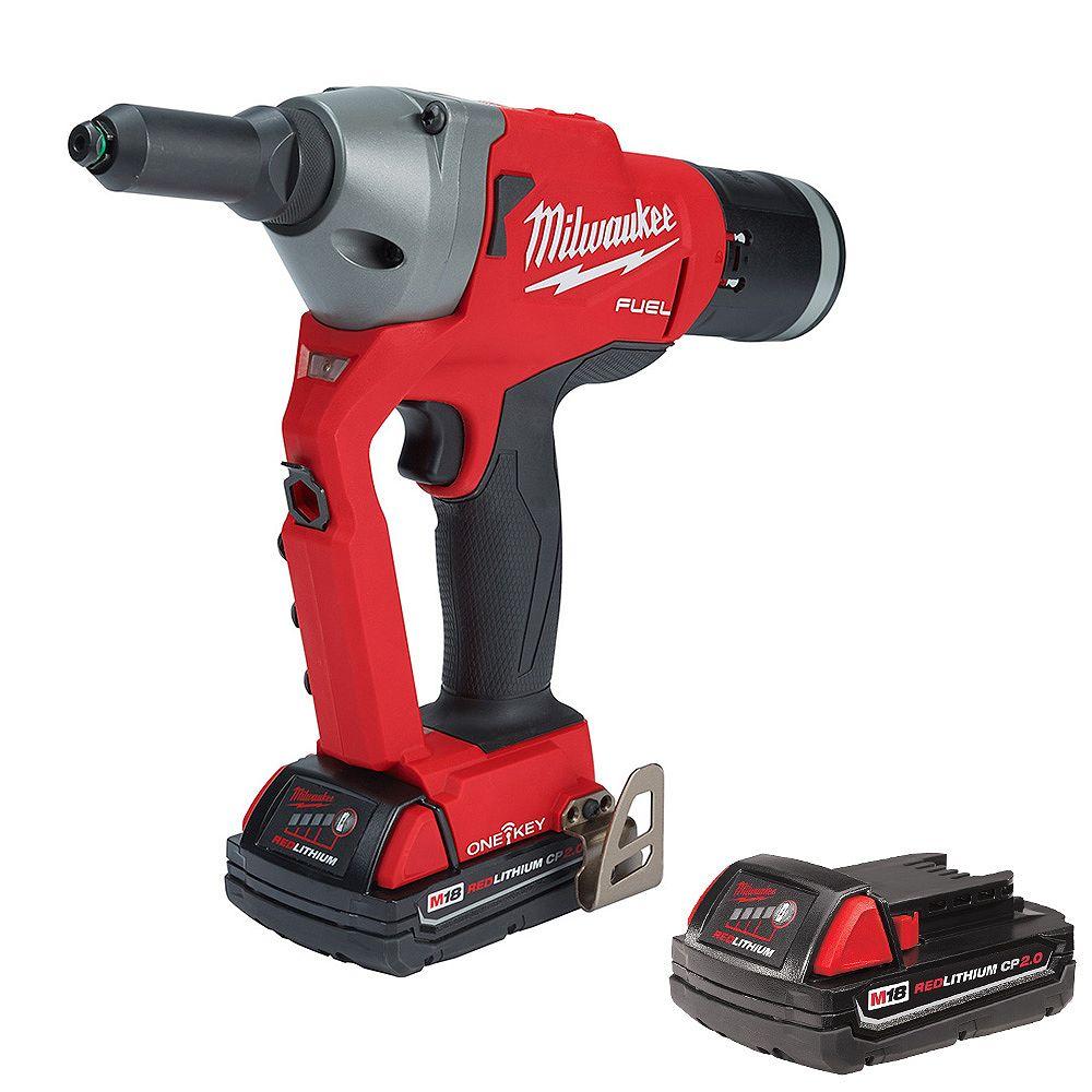 Milwaukee Tool M18 FUEL ONE-KEY 18V Lithium-Ion Cordless Rivet Tool Kit