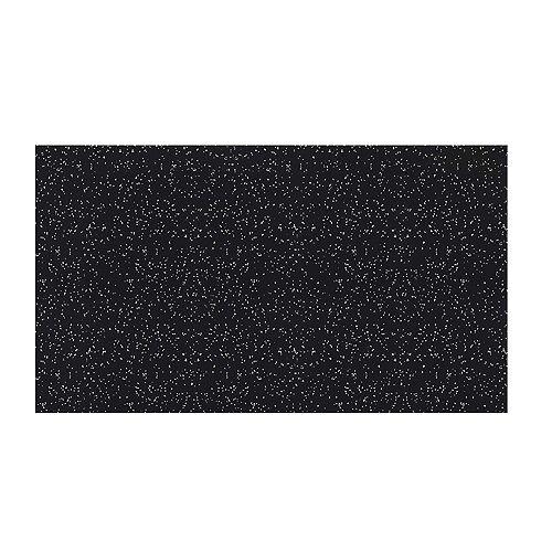 Tapis de gymnastique athlétique en caoutchouc de 4 pi x 6 pi Gris (épaisseur de 10mm)