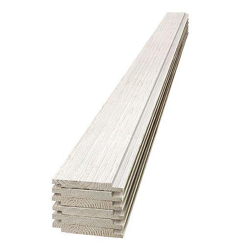 2,54 cm x 15,2 cm x 2,43 m Planche de pin blanc à feuillure pour grange en bois (paquet de 6)
