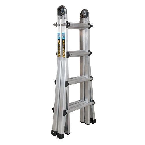 17 ft. Aluminum Telescopic Ladder Grade 1A 300-lb