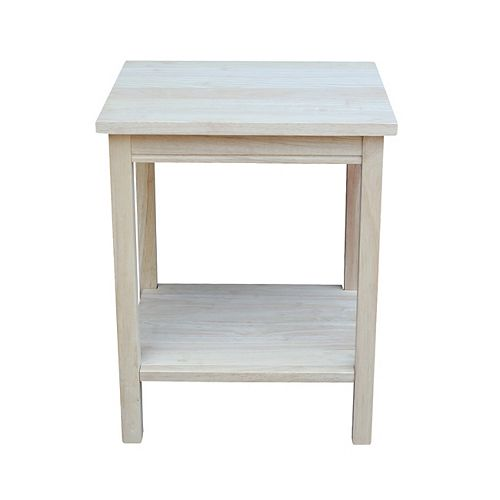 Unfinished Portman Small Accent Table