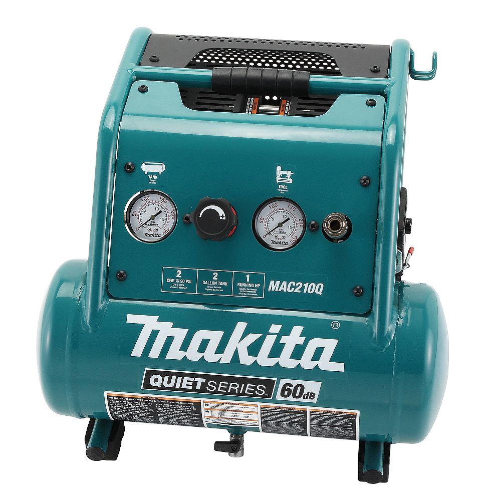 MAKITA 1.0HP 2 Gallon Quiet Compressor