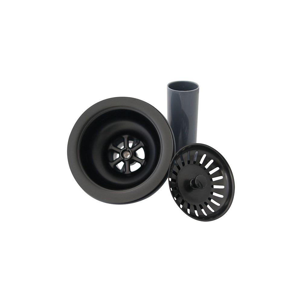Stylish Stylish 3.5 inch Graphite Black Kitchen Sink Strainer with Removable Basket