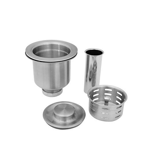 AZUNI 3.5 inch Stainless Steel Kitchen Sink Strainer with Removable Waste Basket