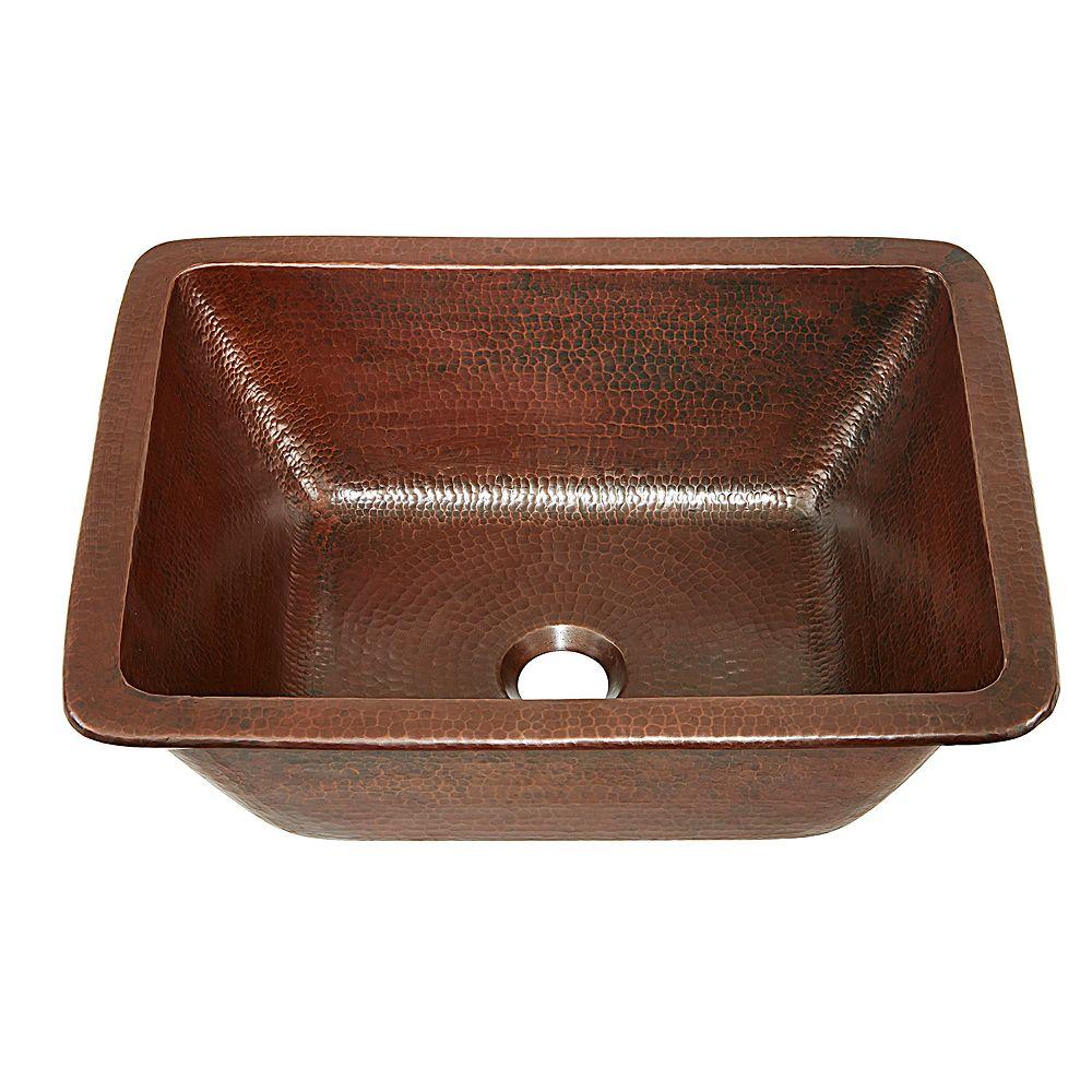Sinkology Hawking 12 inch Drop-In or Undermount Copper Bath Sink