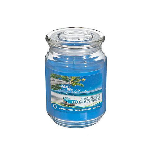 18 Oz Scented Jar With Glass Lid (Ocean Dreams) - Set of 2