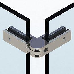 Attache à angle ajustable pour barrière de piscine en verre, à bouts carrés, Acier inoxydable