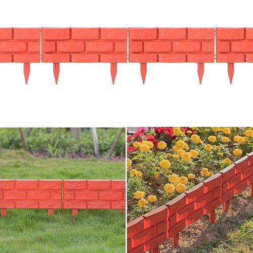 Extérieur Brique Stone Gate Lawn Bordures Pack 8, Rouge