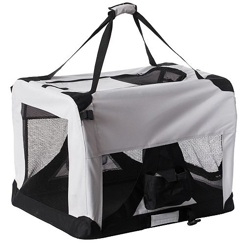 Soft-Sided Mesh Foldable Pet Travel Carrier, Airline Approved Pet Bag for Dogs and Cats, Large