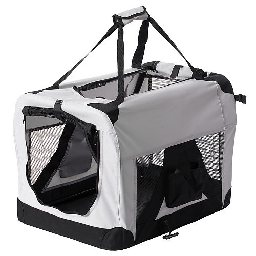 Soft-Sided Mesh Foldable Pet Travel Carrier, Airline Approved Pet Bag for Dogs and Cats, Medium