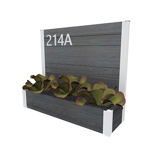 Address sign URBANA, Slate Grey