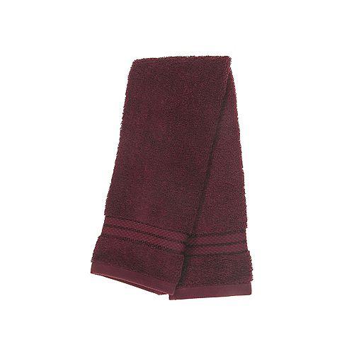 Ellis Hand Towel (16 X 27) (Burgundy) - Set of 6
