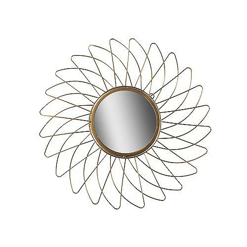 Circular Gold Wired Wall Mirror (Daisy)