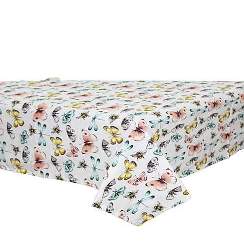 """Cotton Table Cloth (52""""  X  72"""") (Butterfly)"""
