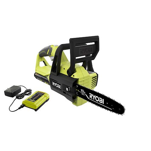 40V 10-inch Brushless Cordless Lithium-Ion Chainsaw Kit with 2.0 Ah Battery and Charger