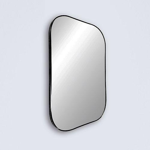 "Infinity, Black Metal Vanity Mirror with Rounded Corners 24"" x 36"""