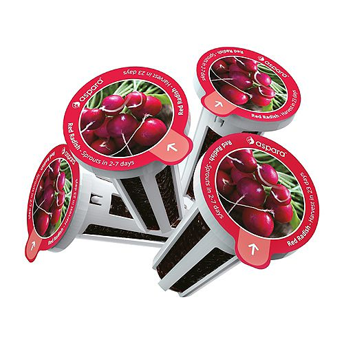 Aspara Red Radish 8 capsule Seed Kit