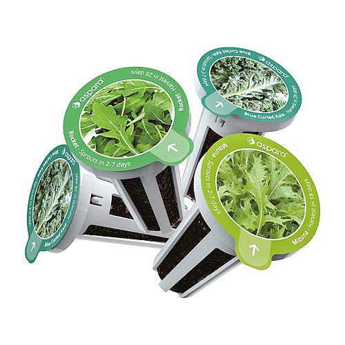 Aspara Salad Special 8 capsule Seed Kit