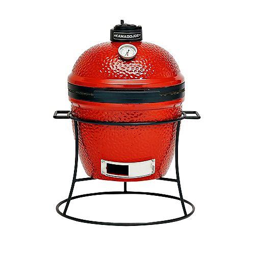 Kamado Joe Jr. 13.5 inch Charcoal Grill in Blaze Red