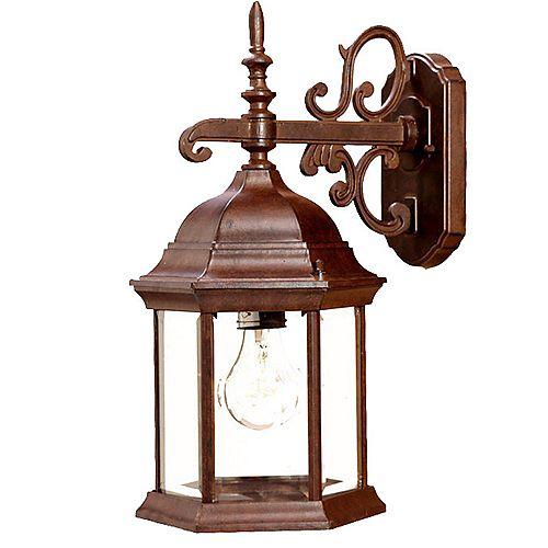 Acclaim Lighting Madison 100W 1-Light Outdoor Wall Lantern in Burled Walnut