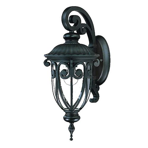 Acclaim Lighting Naples 100W 1-Light Coral Black  Outdoor  Wall Lantern
