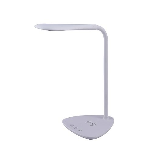 Bostitch 13.4 Inches White LED Desk Lamp with Wireless Charging