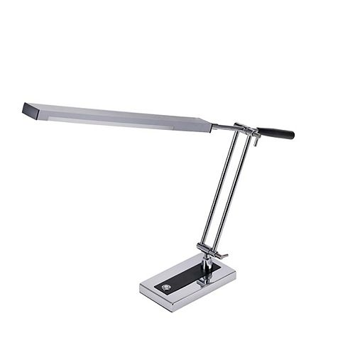 Bostitch 14.4 Inches Chrome  LED Desk Lamp with Adjustable Arm