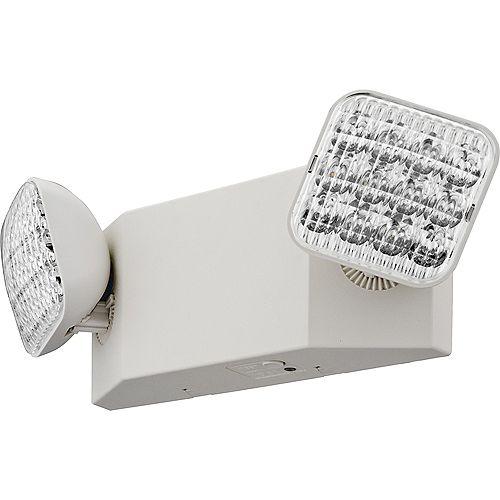 Emergency Light, Two LED Lamps, Ivory white