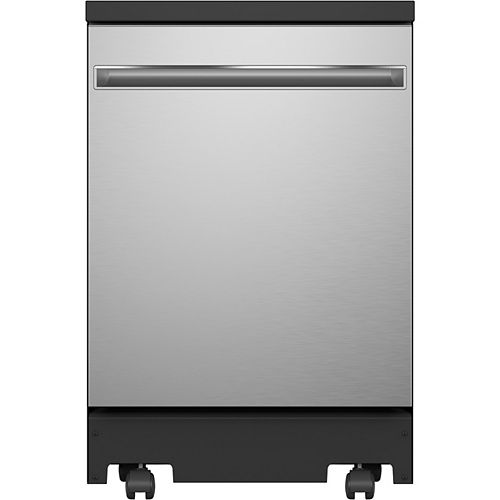 24-inch Portable Dishwasher with Sanitize Cycle in Stainless Steel